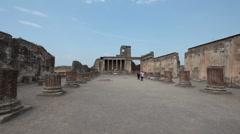 Pompei Italia ruins columns P HD 0583 Stock Footage