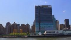 United Nations Building in New York City - stock footage