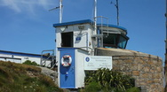 Stock Video Footage of National Coastwatch Watch Station St Ives Cornwall