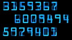 Random numbers digital Stock Footage