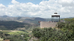 Ronda Spain lookout to valley P HD 9943 Stock Footage