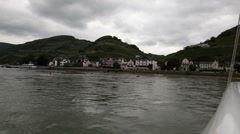 Traveling by cruise ship on a Rhine river 4 Stock Footage