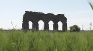 Stock Video Footage of Nature and Roman Aqueduct, Rome, Italy - HD1080