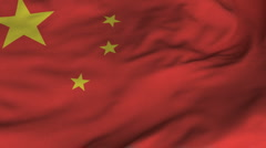 Seamless Waving Chinese Flag with Fabric Texture Stock Footage