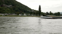 Traveling by cruise ship on a Rhine river 7 Stock Footage