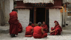 Monks Debating at Sera Monastery 2 Stock Footage