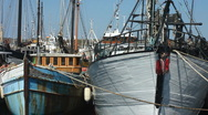 Stock Video Footage of Fishing boats in the harbour at Penzance Cornwall