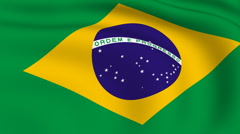 Flying flag of brazil | looped | Stock Footage
