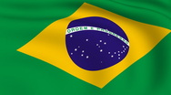 Stock Video Footage of flying flag of brazil | looped |