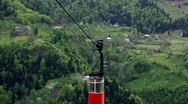 Stock Video Footage of Timelapse of cableway in Georgians Mountains