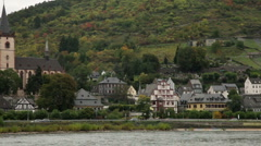 Traveling by cruise ship on a Rhine river 19 Stock Footage