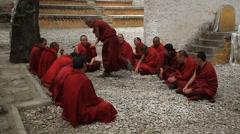 Monks Debating at Sera Monastery 1 Stock Footage