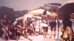 ACAPULCO PUERTA VALLARTA Beach Party Teenagers 1960 Vintage Film Home Movie 1kpe Stock Footage