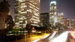 Timelapse traffic freeway downtown los angeles LA Stock Footage
