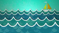 Ocean Scene Loop HD Stock Footage
