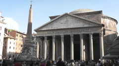Pantheon Long Shot, Rome - Italy - HD1080 Stock Footage