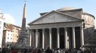 Stock Video Footage of Pantheon Long Shot, Rome - Italy - HD1080