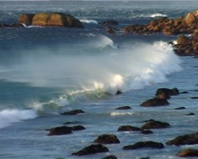 Zoom from Wave to Stormy Coastline, Cape Town GFSD Stock Footage