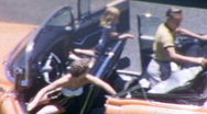 Family in Convertible Car Circa 1956 (Vintage Film 8mm Home Movie) Stock Footage