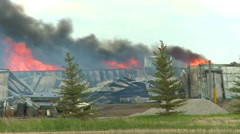 Fire, rural barn fire heavy smoke Stock Footage