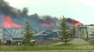 Fire, rural barn fire heavy smoke Stock Footage