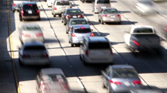 Timelapse traffic freeway downtown los angeles LA Stock Footage