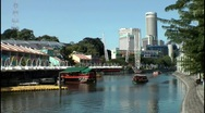 Stock Video Footage of Singapore River at Clarke Quay, Singapore