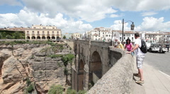 Historic Bridge Ronda Spain P HD 9901 Stock Footage