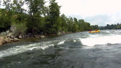 River Rafting POV wipeout Stock Footage