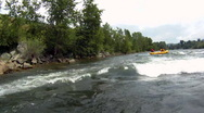 Stock Video Footage of River Rafting POV wipeout
