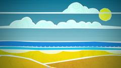 Sunny Beach Scene Loop HD - stock footage