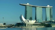 Stock Video Footage of Marina Bay Sands Hotel and Casino, Singapore