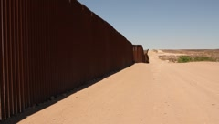 Scan of border fence Stock Footage