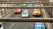 Stock Video Footage of Brooklyn Bridge Traffic 3