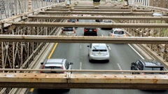 Brooklyn Bridge Traffic 2 - stock footage