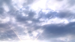 bright sky clouds - stock footage