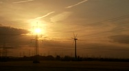 Power Poles In Sunset, TIMELAPSE Stock Footage