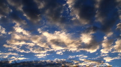 Colorful clouds left to right Stock Footage