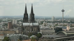 Cologne With Cathedral, Germany Stock Footage