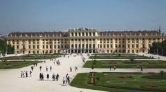 Austria, Vienna, Schonbrunn Castle Stock Footage