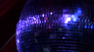 Stock Video Footage of Club DiscoBall (spinning around)