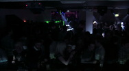 Club Lights Crowd Stock Footage