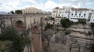 Stock Video Footage of Ronda Spain bridge old town P HD 9873