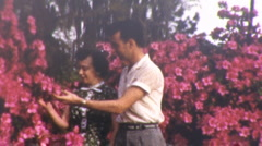ADAM AND EVE Loving Couple GARDEN OF EDEN 1940s Vintage Film 8mm Home Movie 1ktk Stock Footage