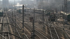 Rail track yard Stock Footage