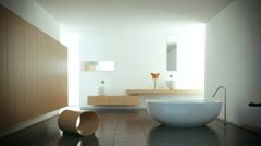 Modern white bathroom - stock footage