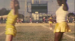 Majorettes African American Black White Girls Teen Vintage Film Home Movie 1kta Stock Footage