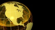 3D Looping Crystal Globe, Green Blue with Grid. Alpha Channel Stock Footage