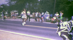 4TH OF JULY Small Town American Parade Vintage Film Home Movie Footage Stock Footage