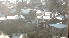 New England Town Rooftops Stock Footage